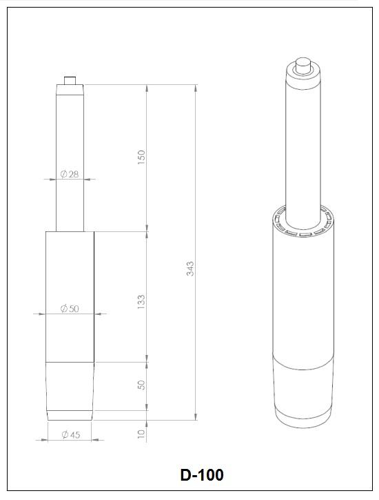 Газлифт D-100